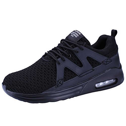wealsex Baskets Mesh Respirant Sports Running Fitness Gym Chaussures de Multisports Outdoor Chaussures de Coussin D'Air Homme 39-46