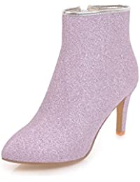 ZQ@QX Tip of the week for fine with high heels and stylish side zipper bare boots, Boots