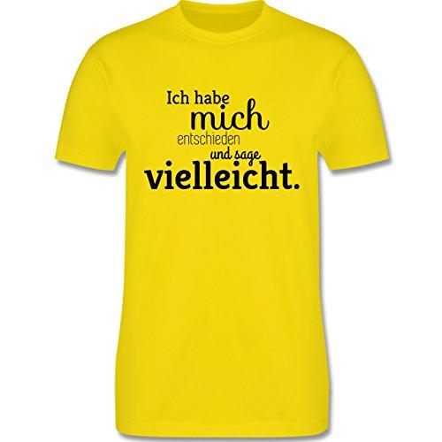 Statement Shirts - Ich habe mich entschieden und sage vielleicht - Herren Premium T-Shirt Lemon Gelb