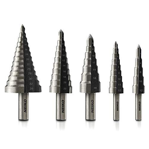 Neiko® 10198eine Metrik Stufenbohrer Set | 5-teilig Metrisches (Tools Neiko)