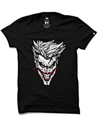 Crazy Prints Mens Half Sleeve Glow in Dark T shirt Joker
