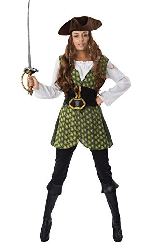 Weiblichen Piraten Meer Dame Damen Frauen Karneval Kostüm Small Adult Pirate Booty