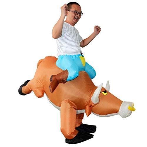 Kuh Aufblasbar Kostüm - LOBTY Halloween Erwachsene aufblasbare aufblasbares Kostüm Kuh Fasching Unisex Adult, Mehrfarbig, Einheitsgröße