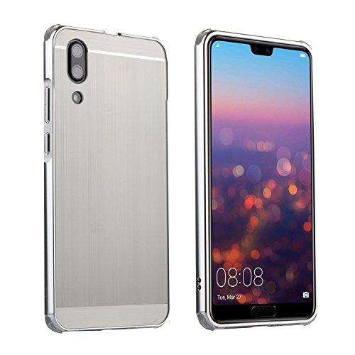 Miagon Bumper Handyhülle für Huawei P20,Luxus Electroplate Aluminium Metall Ultra Dünn Hart Dual-Layer Getrennt Stoßfest Backcover Schutzhülle für Huawei P20