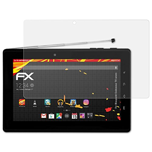atFolix Schutzfolie kompatibel mit Blaupunkt Endeavour TV Seven Displayschutzfolie, HD-Entspiegelung FX Folie (2X)