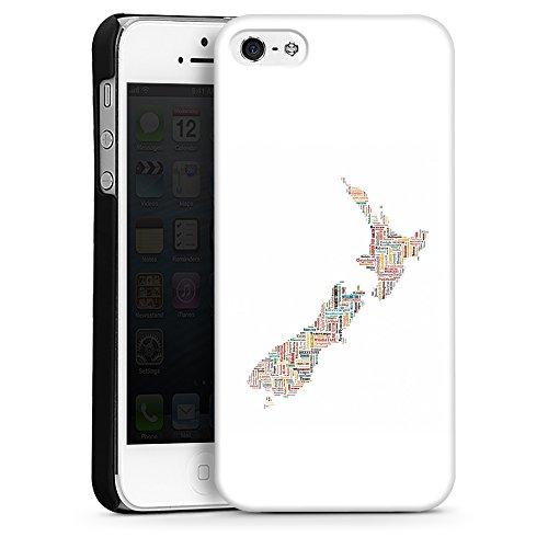 """artboxONE Handyhülle Apple iPhone 6s, weiß Silikon-Case Handyhülle """"New Zealand Map Case"""" - Typografie - Smartphone Silikon Case mit Kunstdruck hochwertiges Handycover von David Springmeyer Hard Case schwarz"""