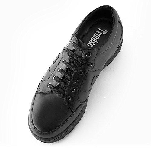 Masaltos - Chaussures rehaussantes pour homme. Jusqu'à 7 cm plus grand! Modèle Ibiza Noir