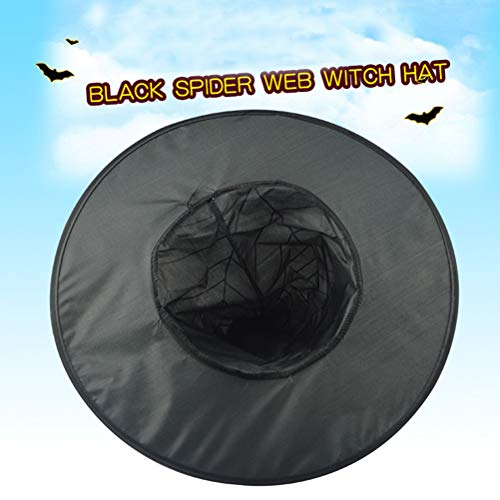 NUOBESTY 1PC Witch Creative Spider Web Black Decorative Cool Props Kostüm Zubehör für Frauen Halloween Party Girls (Baby Tragen Spider Kostüm)