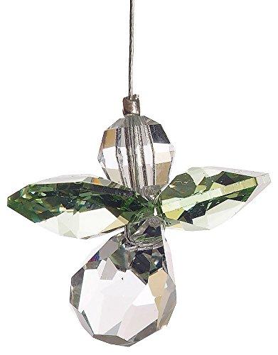 Wild things july, acchiappasole da appendere, con cristalli swarovski, a forma di angelo custode con pietra portafortuna