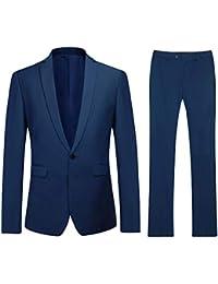 YOUTHUP Costume Homme Formel Slim Fit Boutons Elégant Classique  Trois-Pièces d affaire Mariage 9171728d320