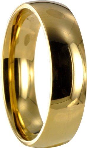 1 Edelstahl L316 gold Ring Partnerring Trauring Ehering X10061 Gr56