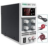 UNIROI Labornetzgerät, 0-30V 0-10A DC Regelbar Netzgerät Stabilisiert Digitalanzeige Labornetzteil Netzteil Strommessgeräte UC3010