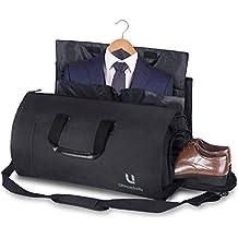 Bolsa Portatrajes Funda de Viaje para Traje Bolso Porta Trajes Ropa Vestidos Carry-On Garment Bag con Compartimentos para Zapatos y Correa Ajustable para Hombro, Ideal para Negocios Hombres Mujeres