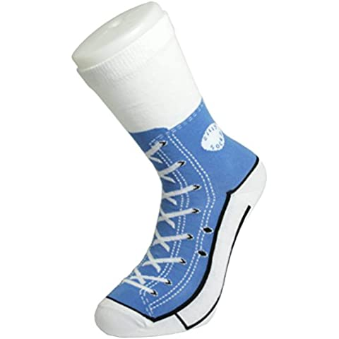 Bluw Silly - Calcetines tipo zapatillas Converse, color azul, talla 37-45 (1 par)