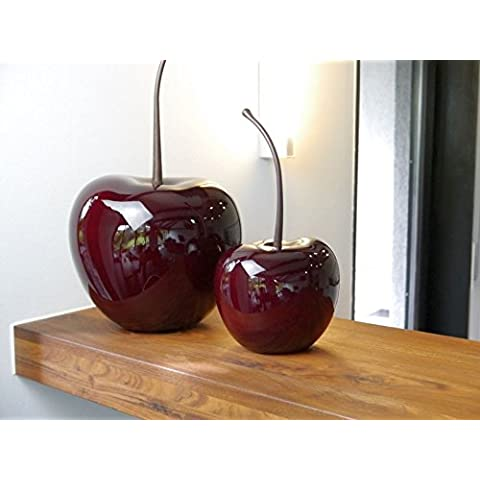 Artículo de decoración cerezas de fibra de vidrio, brillante cerezo rojo, 17x 15x altura 32cm