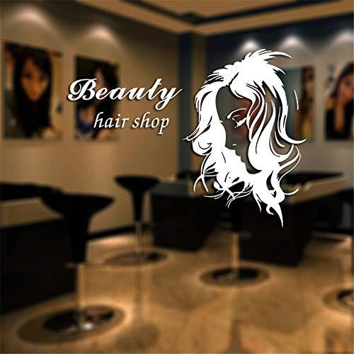 er Schönheit Aufkleber Haar FriseurMädchen Poster VinylWandkunst AufkleberDekor Dekoration Wandbild Salon Aufkleber30 * 40 cm ()