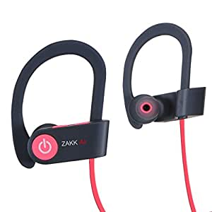 Zakk V1 Air in-Ear Bluetooth Earphone with Mic Compatible with All Phones (Red)