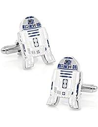 R2-D2 Star Wars Cosplay Cufflinks Boutons de Manchette Avec la boîte Cadeau de Présentation