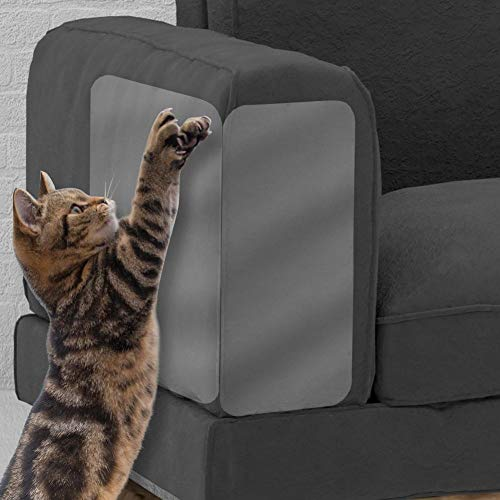 Alley.L 4 Pcs / Set Cat Plastic Sofa Case (2 Set), Cat Scratches Duct Tape, Heavy Duty Vinyl Thick Anti-Cat Scratch Furniture Cover