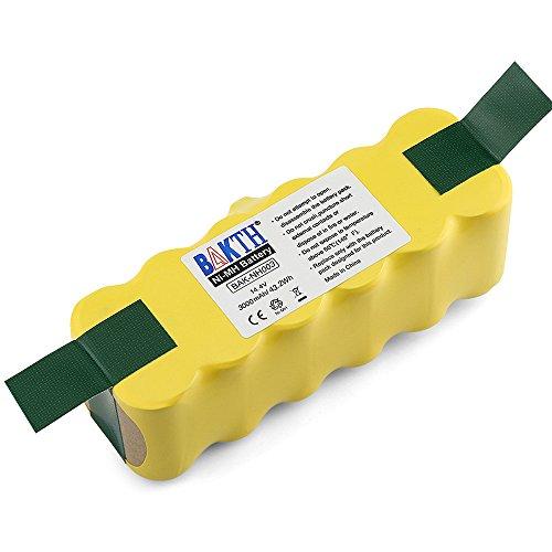 BAKTH Batterie de rechange Ni-MH 3000mAh pour Aspirateur iRobot Roomba 500 600 700 800 510 530 532 535 540 545 550 552 560 562 570 580 581 582 585 595 600 620 630 631 650 660 700 760 770 780 790 800 870 880 R3 80501 4419696