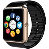Reloj Inteligente SMARTER® YG8 Bluetooth Reloj Inteligente de Muñeca con Pantalla Táctil / Manos Libres / Cámara / anti-perdida / Recordatorio de llamada para Android (YG8-Oro)