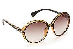 Olvin UV- Protected (OL287-06) Brown Womens Oval Sunglasses GOOD STUFF WITH PREMIUM LOOKS