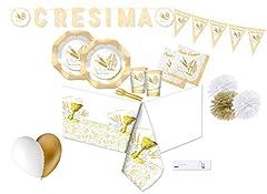 Idea Regalo - Big Party Kit n54 Decorazioni Festa Santa Cresima New Addobbi Confermazione