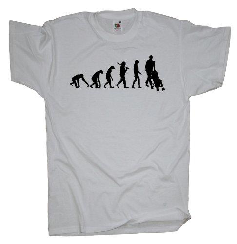 Ma2ca - Evolution - Eltern Kinderwagen T-Shirt White