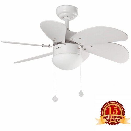 41xbjB39D L. SS500  - Faro Barcelona Palao 33180 – Fan with Light, 40 W, Steel, MDF Blades and Opal Glass Diffuser, White