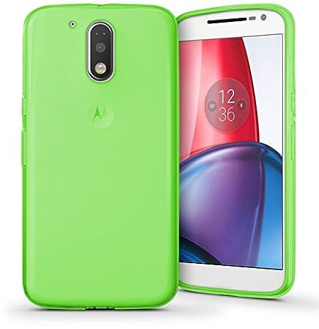 TBOC® Grün Gel TPU Hülle für Motorola Moto G4 Play (5.0 Zoll) Ultradünn Flexibel Silikonhülle (Nitch kompatibel mit Motorola Moto G4 – G4 Plus 5.5