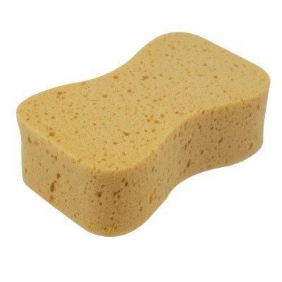 Almohadilla de esponja perforada - SODIAL(R)Almohadilla de esponja de lavar amarillo perforada suave de parabrisas del coche auto