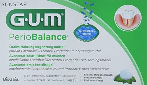 GUM Periobalance Lutschtabletten 30 Stück Packung, 3er Vorteilspack (3x 30 Stück) -