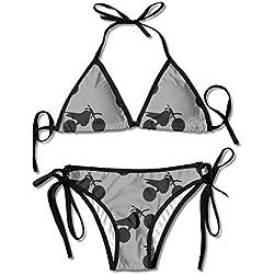 Women's Bikini Set Swimming Costumes for Dirt Bike Flower Print