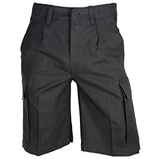 Kurze Bundeswehr Bermuda Feldhose Molsekin Arbeitshose Shorts verschiedene Farben 6-11, 58, 60 (6, Schwarz)