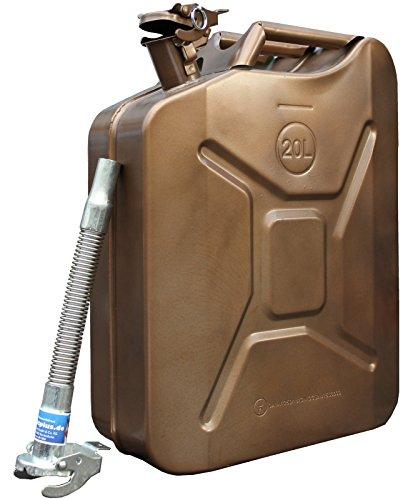 Metallkanister 20l Benzinkanister kupfer + Ausgießer flexibel verzinkt Baumarktplus Reservekanister Dieselkanister bleifrei bleihaltig Ölkanister Ethanolkanister