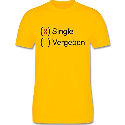 Statement Shirts - Single - Herren Premium T-Shirt Gelb