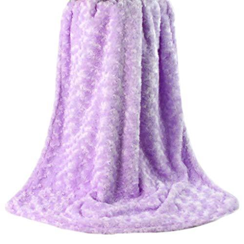 Rüschen Rosette (Provide The Best Baby-warme Weiche Berühren 2-Schicht Plüsch-Strudel gemasert Velour Design-Rosetten Rüschen Decke)