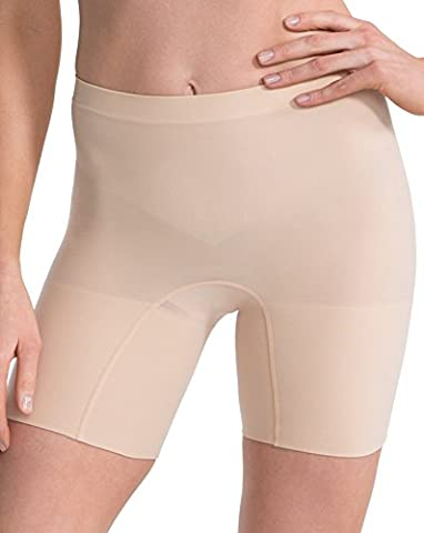 Luxurious Spanx Slimming Shapewear Lightweight and Seamless Power Short, Soft Nude 2X