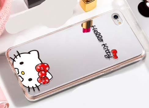 Art Design Hülle für iPhone 7 / iPhone 8 Hello Kitty Spiegeleffekt Soft Silikon