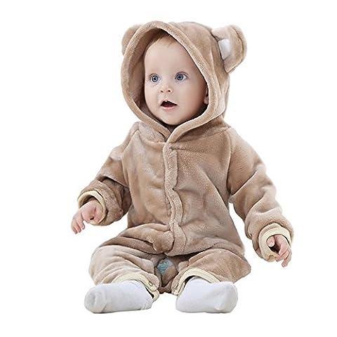 MICHLEY Baby Mädchen und Jungen Bär Stil Overall Herbst &