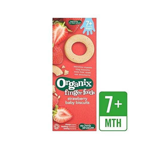 Organix Obst (Organix Erdbeere Baby Kekse 54G - Packung mit 2)