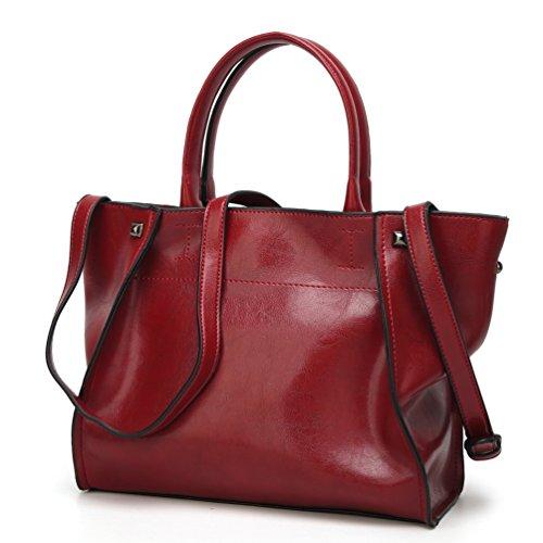 YiLianDa PU Pelle Borsa Donna Cuoio Borsa Tote a Mano a Spalla Manico Top-Handle Handbag come immagine(1)