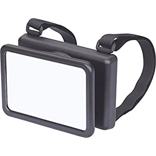 hr-imotion XL Baby mirror with velcro for mounting on the headrest [Made in Germany | Universal | shatter protection | Easy installation] - 10411001