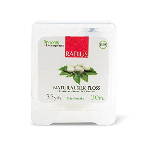 Radius natürlich biologisch abbaubar Seide Floss von 33Meter der Bäume, 3Stück (Zahnseide Radius,)