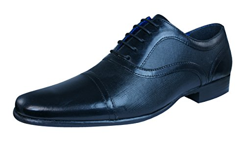 Red Tape Potton hommes en cuir Loafers / Chaussures Black