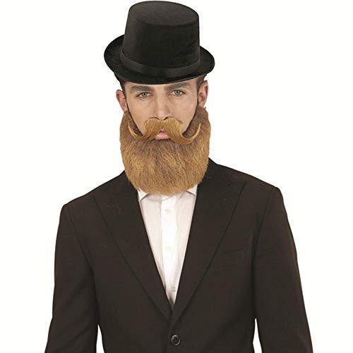 Labreeze Herren-Kostüm, altes englisches Lincoln-Hut, Bart Schnurrbart