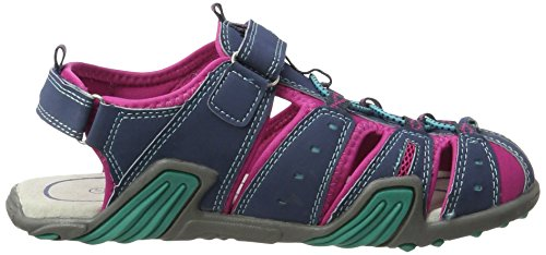 Lico Scotty Vs, Sandales  Bout ouvert fille Blau (MARINE/PINK/TUERKIS)
