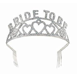 FORUM Diadem, glitzernd, Aufschrift Bride to Be