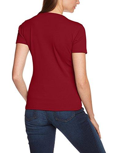 Eddie Bauer 23402983 - T-shirt - Col ras du cou - Manches courtes - Femme Rouge (Dunkelrot)