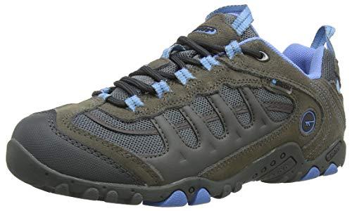 Hi-Tec Penrith Low Waterproof, Zapatillas de Senderismo Mujer, Gris (Grey/charcoal/cornflower), 40 EU (7 UK)